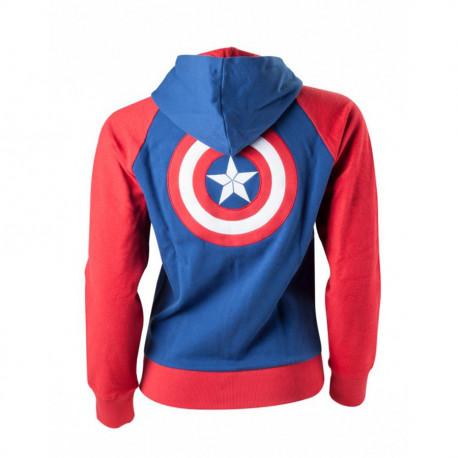 Sweat Captain America Marvel Pour Femme