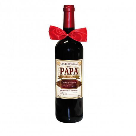 Bouteille de Vin Cuvée Spéciale de Papa