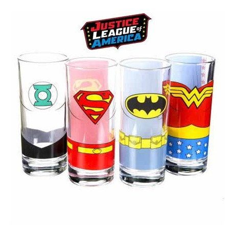 Verres Justice League - lot de 4