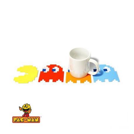 Pack de 4 Sous-Verres PacMan