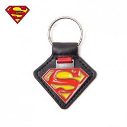 Porte-Clés Superman Métallique Simili-Cuir