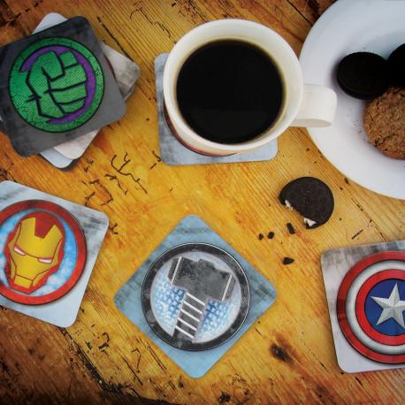 Lot de 8 Sous-Verres Animés Super-Héros Marvel
