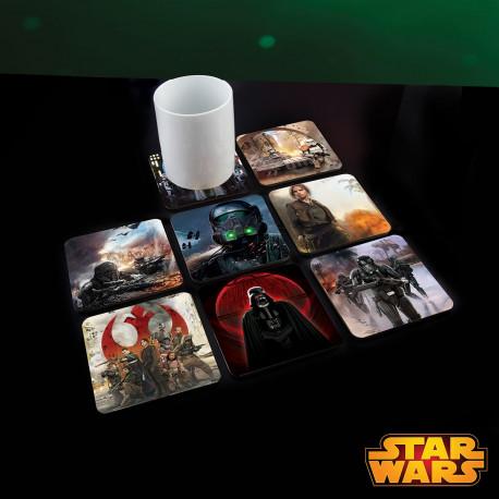 Sous-Verres Animés Star Wars Rogue One - Lot de 8