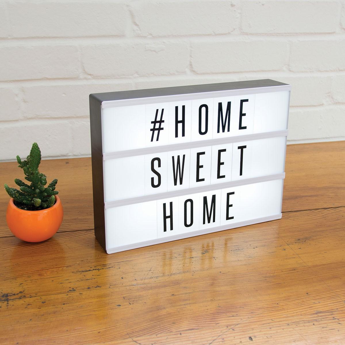 tableau d co lumineux pour crire un message 72 caract res sur cadeaux et anniversaire. Black Bedroom Furniture Sets. Home Design Ideas