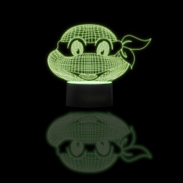 Lampe Tortues Ninja Multicolore Effet 3D