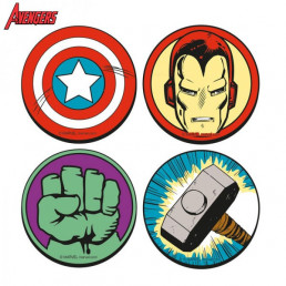 Sous-Verres Super-Héros Marvel - Lot de 4