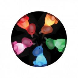 Veilleuse Licorne Blanche Arc-en-Ciel Multicolore