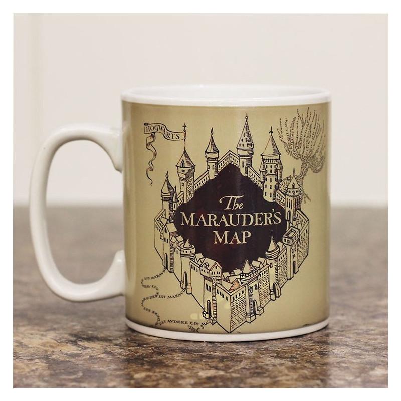 tasse magique harry potter avec carte du maraudeur sur cadeaux et anniversaire. Black Bedroom Furniture Sets. Home Design Ideas
