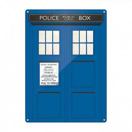 Grande Plaque Métallique Tardis Dr Who