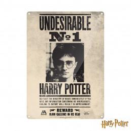 Grande Plaque Métallique Harry Potter - Undesirable n°1