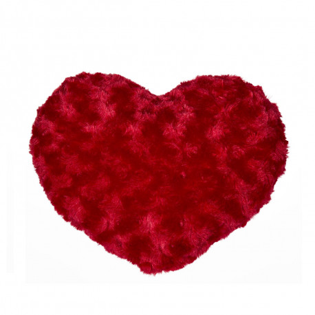 Coussin Coeur Rouge Fourrure