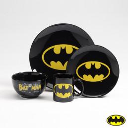 Vaisselle Batman Logo - Set de 4 Pièces
