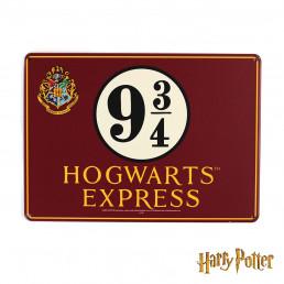 Petite Plaque Métallique Harry Potter - Poudlard Voie Express 9 3/4