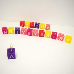 Bougies Carrées Joyeux Anniversaire