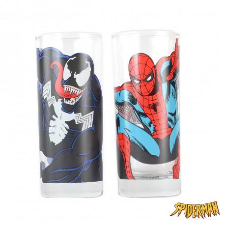 Verres Spiderman & Venom - Lot de 2