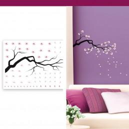 Stickers Cerisiers Japonais Fleuris