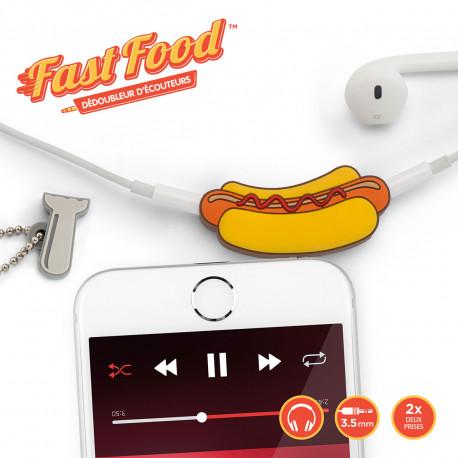 Dédoubleur d'Écouteurs Hot-Dog