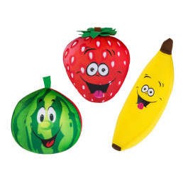Coussins Microbille Fruits - Lot de 3