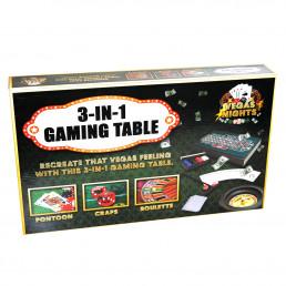 Table de Jeux Vegas 3 en 1