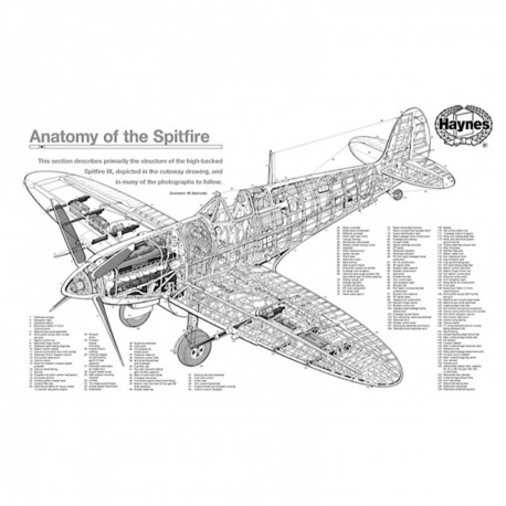 Puzzle Chasseur Supermarine Spitfire 1000 Pièces