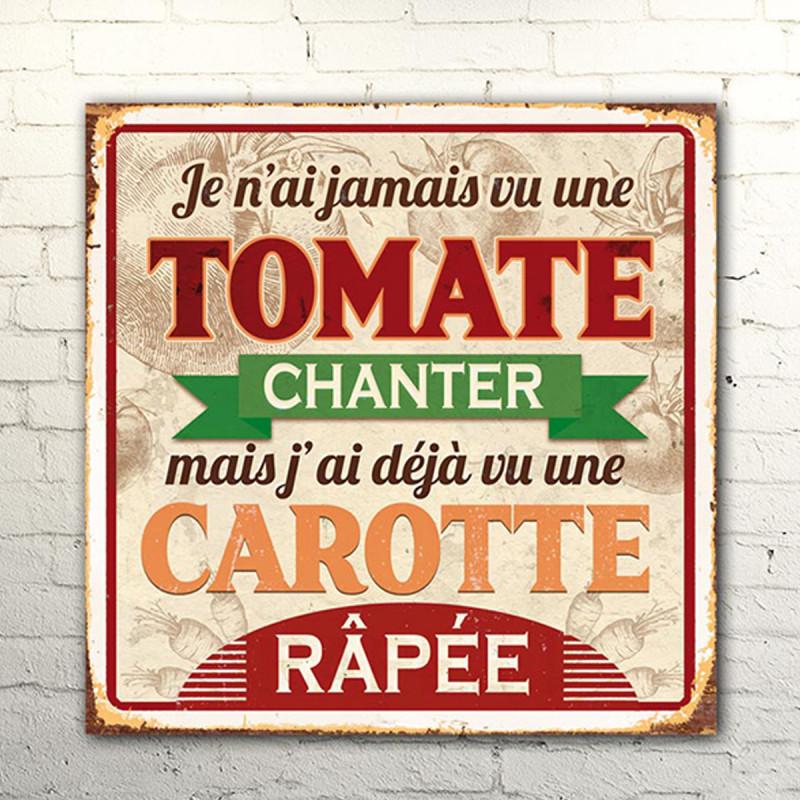 Affiche murale en m tal pour la cuisine avec message humoristique sur cadeaux et anniversaire - Plaque en aluminium pour cuisine ...