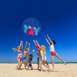 Maxi Ballon Gonflable Confettis YAY