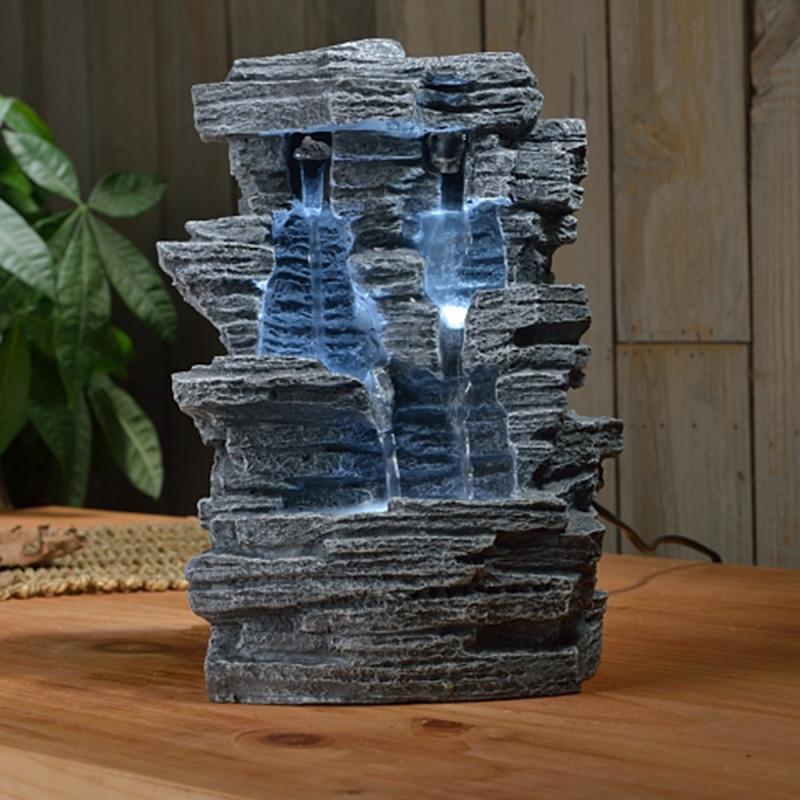 fontaine chutes d 39 eau en forme de grand canyon. Black Bedroom Furniture Sets. Home Design Ideas