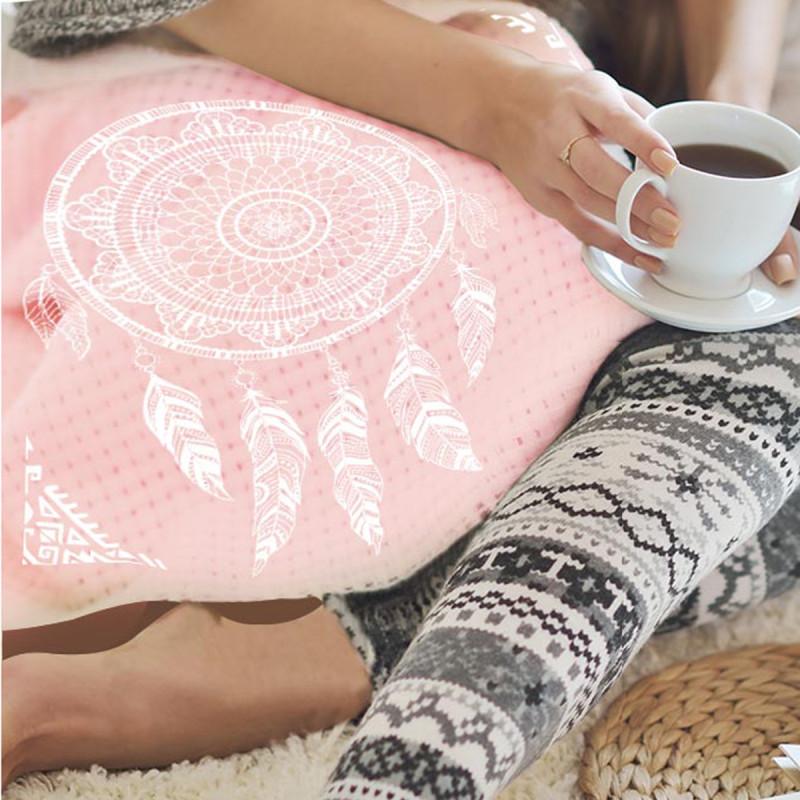 plaid rose pastel style boho attrape r ves pour d co indienne sur cadeaux et anniversaire. Black Bedroom Furniture Sets. Home Design Ideas