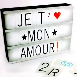 Boite Lumineuse a Message A4 - 85 Lettres
