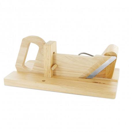 d coupe saucisson en bois avec lame en inox aff t e sur cadeaux et anniversaire. Black Bedroom Furniture Sets. Home Design Ideas