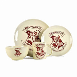 Vaisselle Harry Potter Poudlard - Set de 4 Pièces