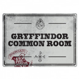 Petite Plaque Métallique Harry Potter - Salle Commune de Gryffondor