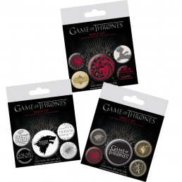 Pack de 5 Badges Game of Thrones