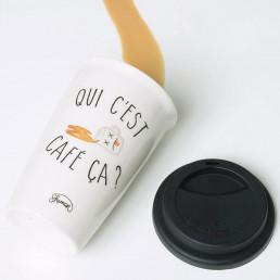 Mug de Voyage Qui C'est Café ça ?