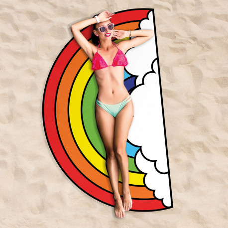 drap de bain multicolore pour la plage en forme d arc en ciel sur cadeaux et anniversaire. Black Bedroom Furniture Sets. Home Design Ideas