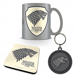Set Game of Thrones Stark - Mug, Sous-Verre et Porte-Clés