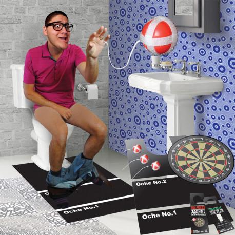 Jeu Cible pour Toilettes avec Balles Velcro