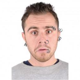 Piercings de Déguisement - Lot de 8