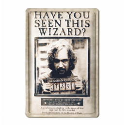 Plaque Métallique 3D Harry Potter - Wanted Sirius Black