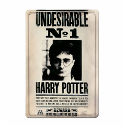 Plaque Métallique 3D Harry Potter - Undesirable n°1