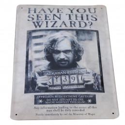 Plaque Métallique 3D Harry Potter - Wanted Sirius Black