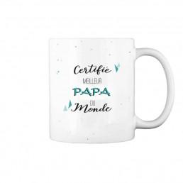 Mug Certifié Meilleur Papa à Personnaliser