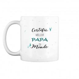 Mug Certifié Meilleur Papa du Monde