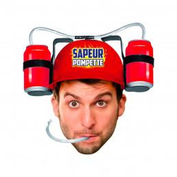 Casque à Bière Humoristique Sapeur Pompette
