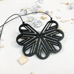 Collier Géométrie Fleur en Bois