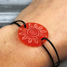 Bracelet Mandala Fleur Orange