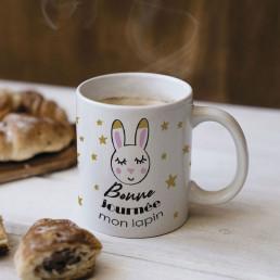 Mug Bonne Journée Mon Lapin à Personnaliser