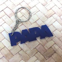 Porte-Clés Papa Bleu en Acrylique