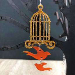 Collier Cage à Oiseaux Dorée