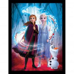 Tableau Reine des Neiges 2 - Elsa, Anna, Olaf & Nokk